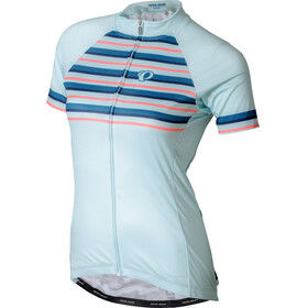 PEARL iZUMi Elite Pursuit LTD Jersey Women stripes glacier/teal/navy/sugar coral